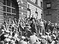 Harry Pollitt, General Secretary of the Communist Party of Great Britain, gives a speech to workers in Whitehall, London, 1941. D4419.jpg