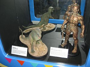 Ray Harryhausen - Harryhausen models for allosaurus in One Million Years B.C., and Talos the bronze giant for Jason and the Argonauts at the National Media Museum