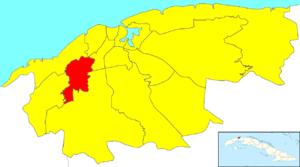 Marianao - Image: Havana Map Marianao