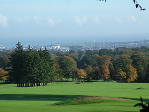 Hazlehead Park - The park's golf course overlooking Aberdeen city.