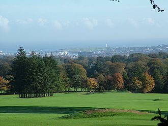 Hazlehead Park - The park's golf course overlooking Aberdeen city.