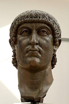 Buste colossal de Constantin Ier, bronze IVe siècle, musées du Capitole.