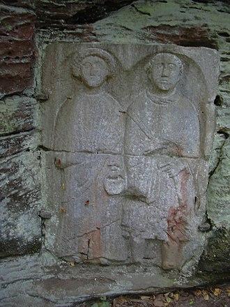 Schwarzbach (Blies) - Image: Heidelsburg Relief