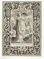 Heilige Elisabet van Hongarije met kruik en vogel in omlijsting met ornamenten.jpeg