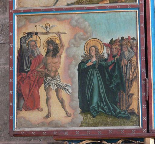 Heilsbronn Münster Marienaltar Rechtfertigungsbild