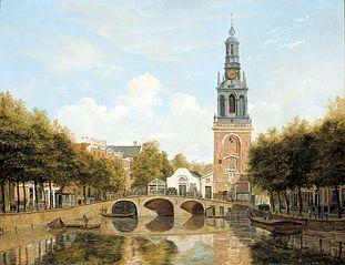 The Torensluis (tower lock) and the Jan Roodenpoortstoren in Amsterdam