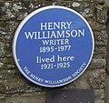 Henry Williamson plaque Georgeham.jpg