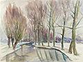 Henryk Epstein Pejzaż zimowy - drzewa nad rzeką.jpg