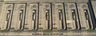 Hew Lorimer - Figures on the National Library of Scotland