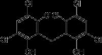 Struktur von Hexachlorophen