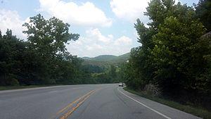 Arkansas Highway 5 - Highway 5, Highway 9 and Highway 14 near Mountain View
