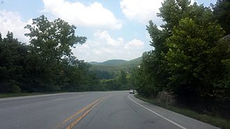 Arkansas Highway 5 - Highway 5, Highway 9 and Highway 14 near Mountain View