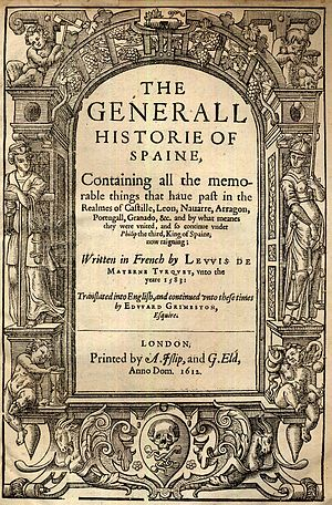 George Eld - Titlepage of Edward Grimeston's The Generall Historie of Spaine, 1612.