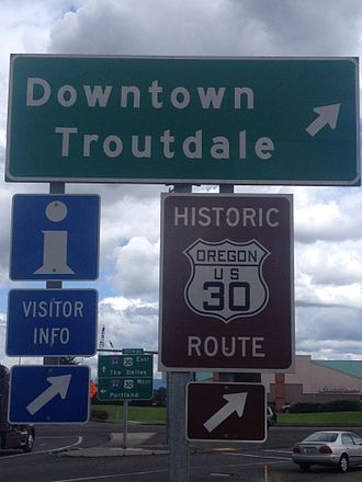 U.S. Route 30 in Oregon - Historic Route 30 Sign
