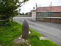 Historical shell casing at Kirby Misperton Village Hall - geograph.org.uk - 226315.jpg