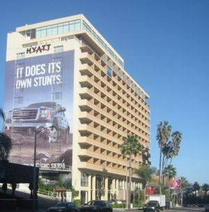 Hollywood Hyatt Hotel in West Hollywood, CA