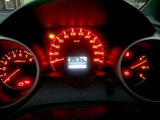 Honda Fit - Dials of a South African Honda Jazz.