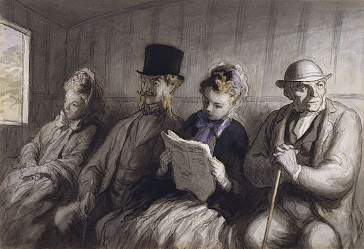 Honoré Daumier - The First Class Carriage - Walters 371225