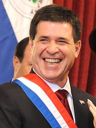 President of Paraguay - Image: Horacio Cartes con banda