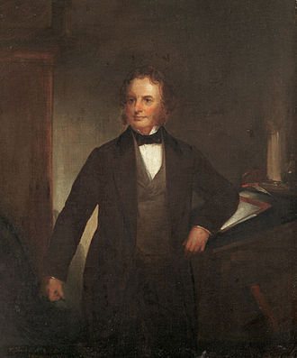 "Paul Revere's Ride - Henry Wadsworth Longfellow in 1860, the year he wrote ""Paul Revere's Ride"", painted by Thomas Buchanan Read"