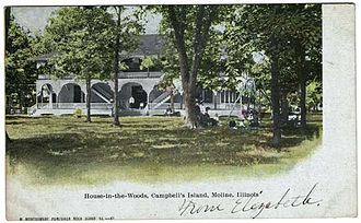 Campbell's Island, Illinois - House-In-The-Woods Inn, 1907