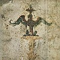 House of the Prince of Naples in Pompeii Plate 139 Porticus candelabra sphinx on the North Wall MH.jpg