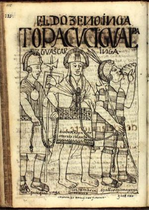 Quizquiz - Quizquiz (left), while leading Huáscar prisoner