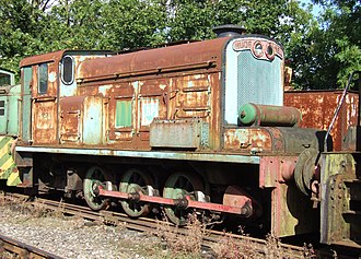 British Rail Class D2/7 - A Hudswell Clarke industrial diesel locomotive similar to the British Rail Class D2/7