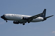 Un Boeing 737-400 di Blue Panorama Airlines.
