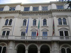 Province of Padua - Palazzo Santo Stefano, the provincial seat.