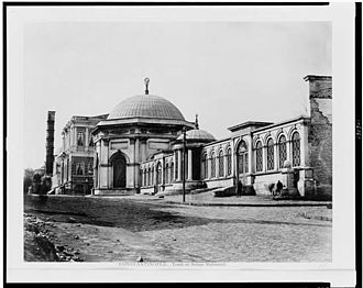 Mahmud II - The mausoleum of Sultan Mahmud II during the period of 1860-1890.