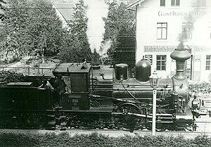 Děčín–Dresden-Neustadt railway - A Saxon IIIb in Pötzscha (now Stadt Wehlen)