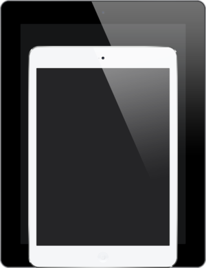 IPad Mini 2 - Size comparison between the iPad Mini and the second, third, and fourth generation full-sized iPad.