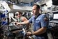 ISS-53 Aleksandr Misurkin and Sergey Ryazansky inside the Harmony module.jpg