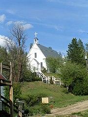 Una iglesia en la ciudad de Idaho
