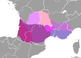 Dialectos del idioma occitano.