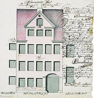 Copenhagen Fire of 1728 - One of Johan Cornelius Krieger's fire houses