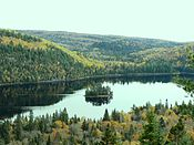 Ile-aux-pins in Lake Wapizagonke in La Mauricie National Park.JPG