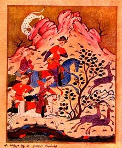Illustration to Rustaveli