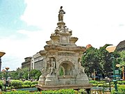 "Flora Fountain was renamed Hutatma Chowk, or ""Martyr's Square,"" as a memorial to the Samyukta Maharashtra Movement"