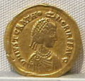 Impero d'occidente, valentiniano III, emissione aurea per onoria, 425-454, 01.JPG