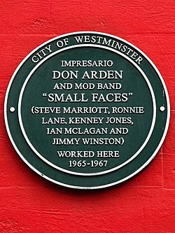 Impresario don arden and mod band small faces 1965 1967 (city of westminster)