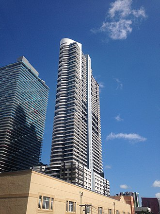 Infinity at Brickell - The Infinity at Brickell in June 2016