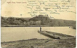 Mary Draper Ingles - A postcard of Ingles Ferry, ca. 1908