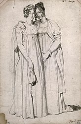 Jean Auguste Dominique Ingres: Henrietta Harvey and her half-sister, Elizabeth Norton