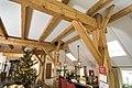 Interieur, overzicht houten draagconstructie in voormalig bedrijfsgedeelte - Eursinge - 20412039 - RCE.jpg