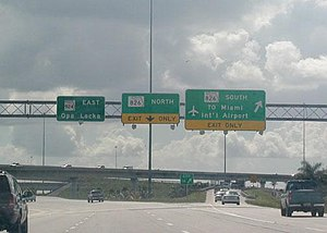 Interstate 75 - I-75 endpoint at interchange with SR 826, locally known as the Palmetto Expressway
