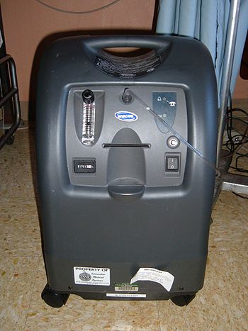 An Invacare Perfecto 2 Oxygen Concentrator.