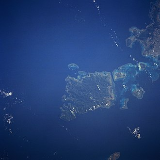 Iriomote Island - Iriomote from space, August 1991