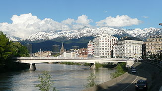 Der Fluss in Grenoble